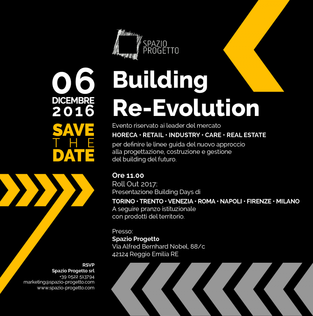 "Evento Riservato ""Building Re-Evolution, Roll Out 2017"""