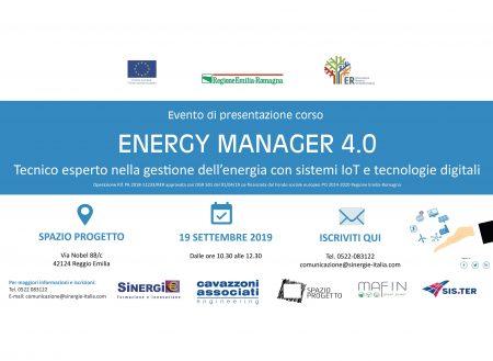 Presentazione del corso Energy Manager 4.0